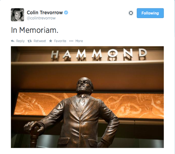 Colin Trevorrow's latest tweet