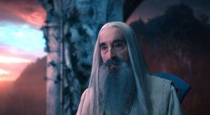 Christopher Lee portrayed Saruman in The Lord of the Rings franchise