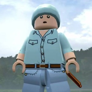 Colby's character Leon in LEGO Jurassic World
