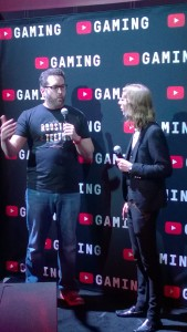 With Burnie Burns at E3 2015