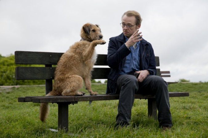 Robin Williams (voice) and Simon Pegg. Copyright: Giles Keyte