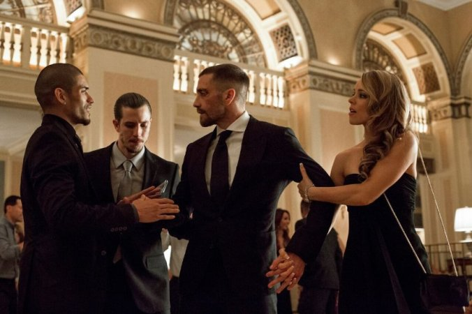 Jake Gyllenhaal, Rachel McAdams and Miguel Gomez in Southpaw. Copyright: The Weinstein Company