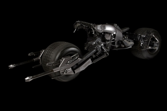 Batpod on black background