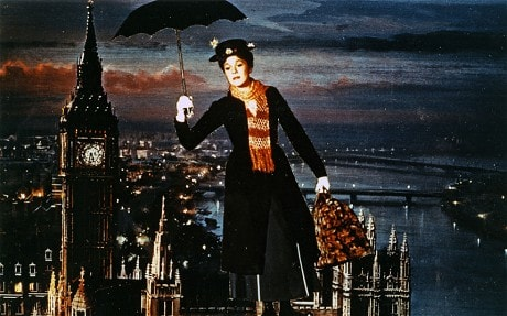 Mary Poppins at Big Ben