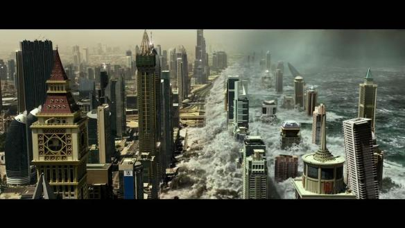 Tidal wave hitting Dubai in Geostorm