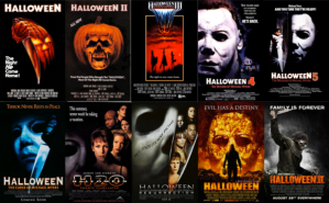 Halloween series film posters