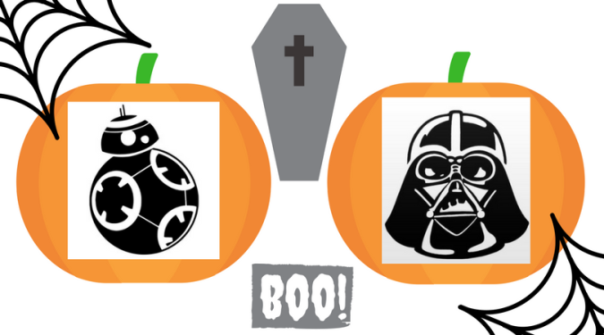 Star Wars pumpkin templates