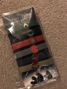 Justice League Odeon exclusive wristbands