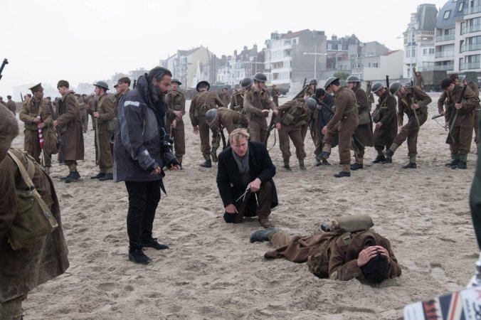 Christopher Nolan on Dunkirk set