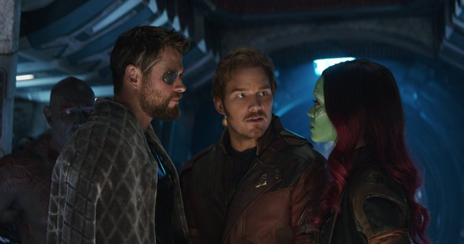 Thor, Star Lord and Gamora