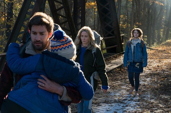 John Krasinski and Emily Blunt in A Quiet Place