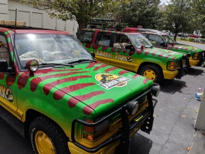 Ford Explorers from Jurassic Park