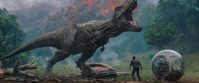 T-Rex in Jurassic World: Fallen Kingdom