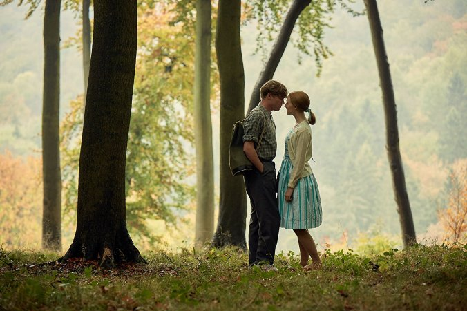 Saoirse Ronan and Billy Howle in On Chesil Beach