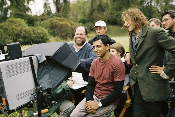 M Night Shyamalan on the set of The Village
