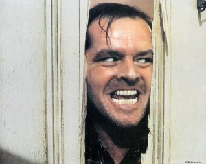 Here's Johnny from The Shining