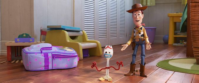 Forky & Woody in Toy Story 4